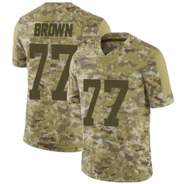 Youth Nike Las Vegas Raiders Trent Brown Brown Camo 2018 Salute to Service Jersey - Limited