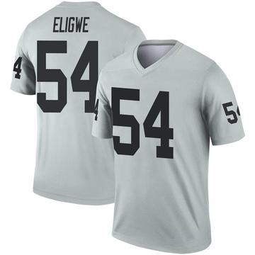 Youth Nike Las Vegas Raiders Ukeme Eligwe Inverted Silver Jersey - Legend