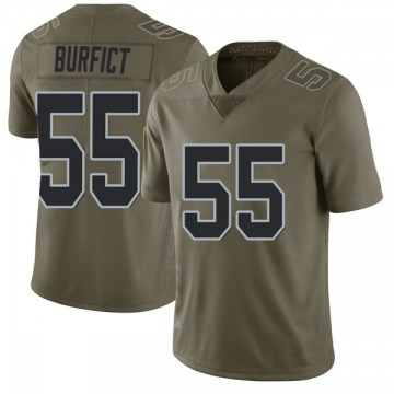 Youth Nike Las Vegas Raiders Vontaze Burfict Green 2017 Salute to Service Jersey - Limited