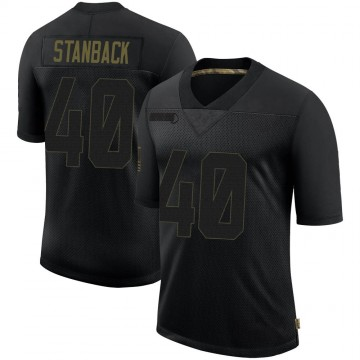 Youth Nike Las Vegas Raiders William Stanback Black 2020 Salute To Service Jersey - Limited