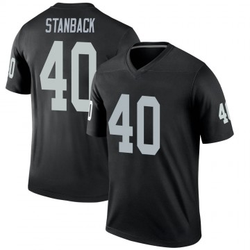 Youth Nike Las Vegas Raiders William Stanback Black Jersey - Legend