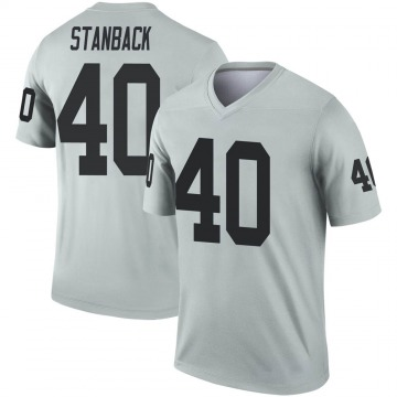 Youth Nike Las Vegas Raiders William Stanback Inverted Silver Jersey - Legend