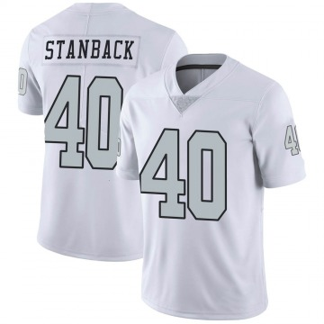 Youth Nike Las Vegas Raiders William Stanback White Color Rush Jersey - Limited