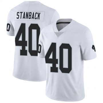 Youth Nike Las Vegas Raiders William Stanback White Vapor Untouchable Jersey - Limited