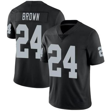 Youth Nike Las Vegas Raiders Willie Brown Black Team Color Vapor Untouchable Jersey - Limited