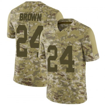 Youth Nike Las Vegas Raiders Willie Brown Brown Camo 2018 Salute to Service Jersey - Limited