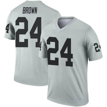 Youth Nike Las Vegas Raiders Willie Brown Brown Inverted Silver Jersey - Legend
