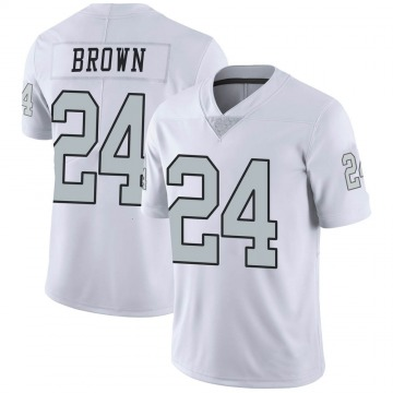 Youth Nike Las Vegas Raiders Willie Brown White Color Rush Jersey - Limited