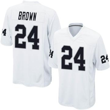Youth Nike Las Vegas Raiders Willie Brown White Jersey - Game