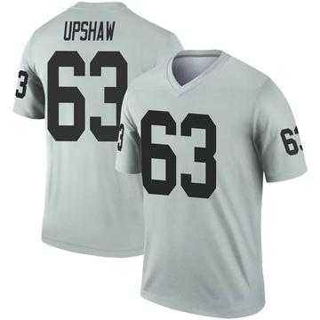 Youth Nike Las Vegas Raiders Wilson Gene Upshaw Inverted Silver Jersey - Legend
