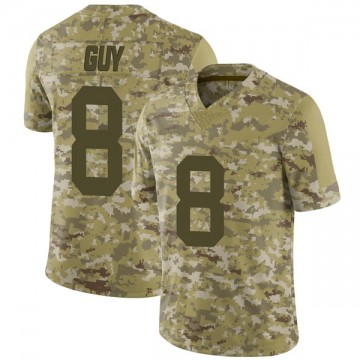 Youth Nike Las Vegas Raiders Wilson Ray Guy Camo 2018 Salute to Service Jersey - Limited