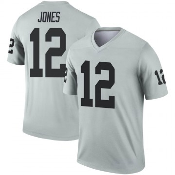 Youth Nike Las Vegas Raiders Zay Jones Inverted Silver Jersey - Legend